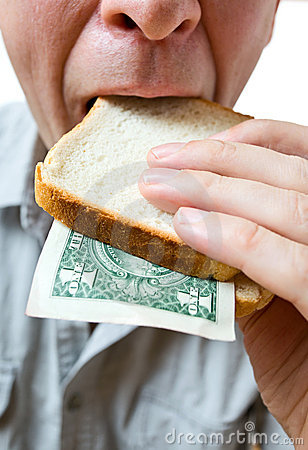 That you can place in a sandwich - your money.