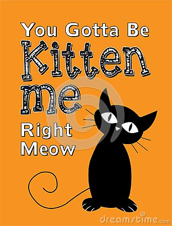 Free You Gotta Be Kitten Me Right Meow Royalty Free Stock Photography - 100422717