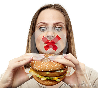 Free You May Not Eat Junk Food! Stock Photos - 37242223