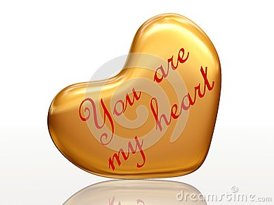 You are my heart in golden heart