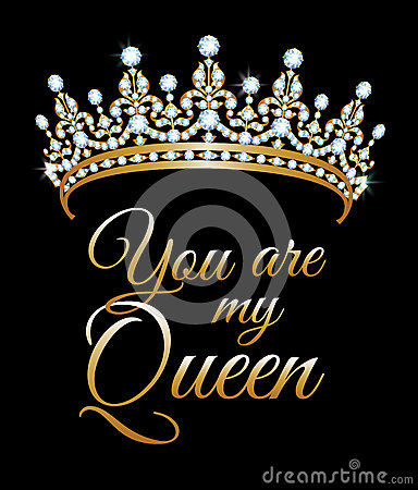 You Are My Queen Stock Vector - Image: 58049656