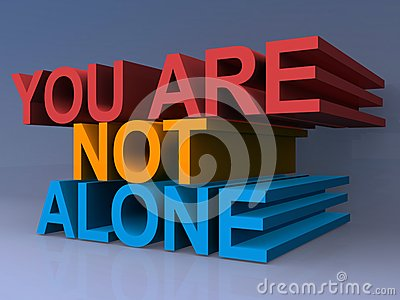 You are not alone Stock Photo