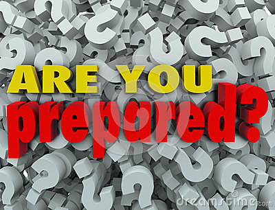 Are You Prepared Question Ready Evaluation Assessment