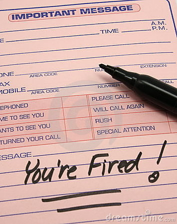 You re Fired! Important Message