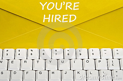 You re hired message