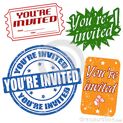 You re invited stamps