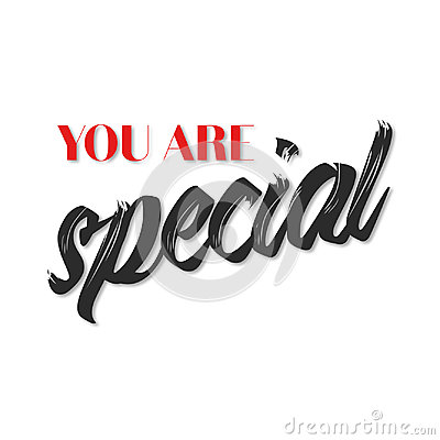You are special quote poster Stock Photo