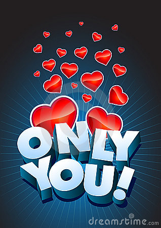 Only You text and hearts