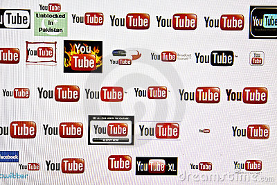 You Tube logo Editorial Stock Image