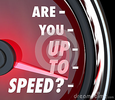 Are You Up to Speed Question Speedometer