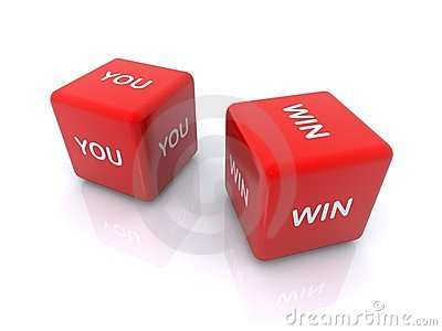 You win on dice