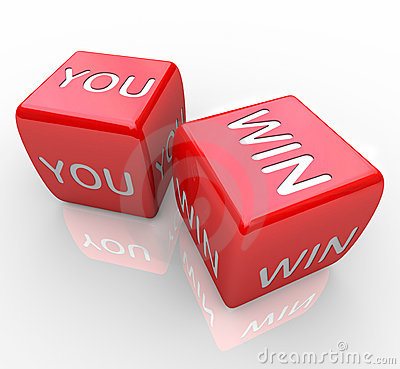 Free You Win - Words On Red Dice Royalty Free Stock Image - 15982746
