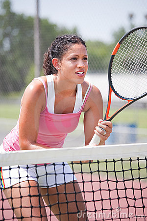 Youn female tennis player