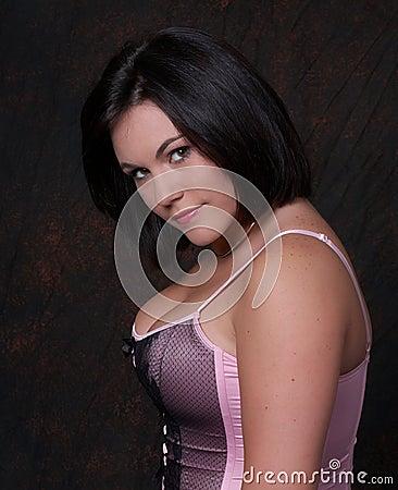 Youn woman in corset