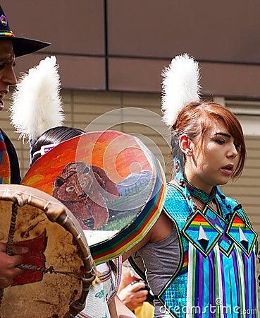 Young Aboriginal Dancer Editorial Photo