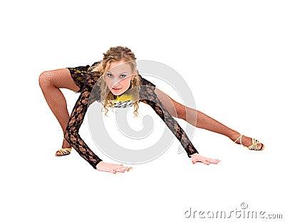 Young acrobat posing