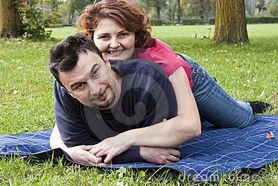 Young Adult Couple in the Park