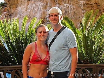Young Adult Couple on Tropical Vacation