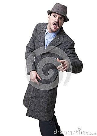 Shouting Mobster