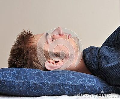 Young adult sleeps