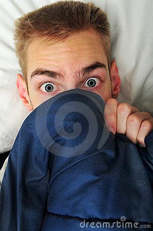 Free Young Adult Teen Hides Under Covers Stock Photos - 12563443