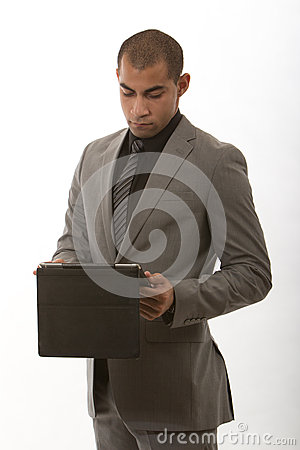 Young african american black businessman