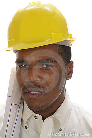 Free Young African American Contractor Royalty Free Stock Images - 7644669