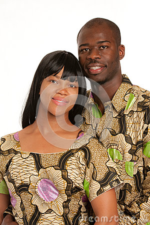 Young African American Couple Portrait