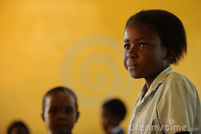 young african school girl in classroom Editorial Photography