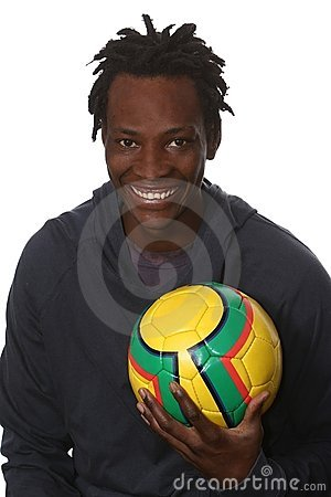 Free Young African Soccer Player Stock Photos - 14081063