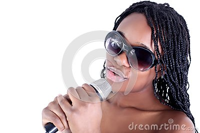 Young afro-american singer