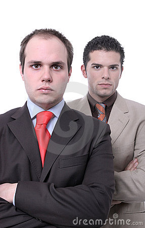 Young and ambituous businessmen