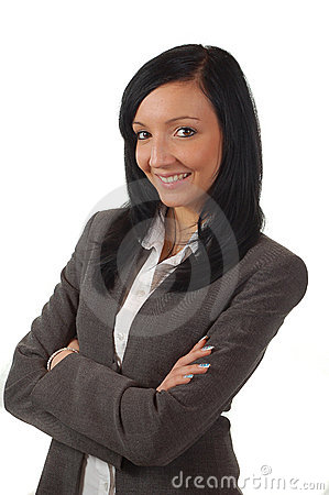 Free Young And Beautiful Business Woman Smileing Royalty Free Stock Photo - 4666125