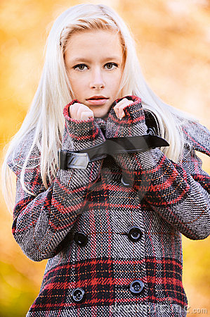 Young appealing blond woman at