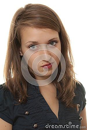 Young arrogant woman