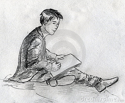 Young artist sketch
