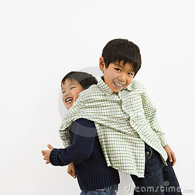 Free Young Asian Brothers Royalty Free Stock Photos - 4416198