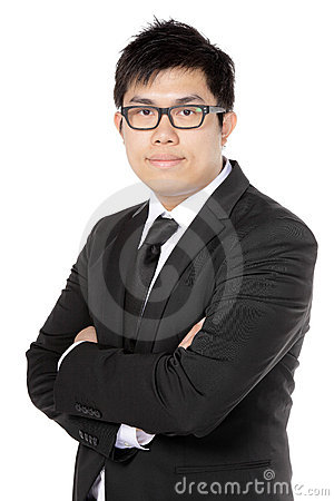 Young asian business man