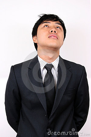 Young Asian Business man stressed