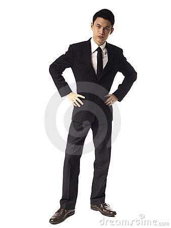 Free Young Asian Corporate Man With Serious Look Over W Royalty Free Stock Image - 23882786