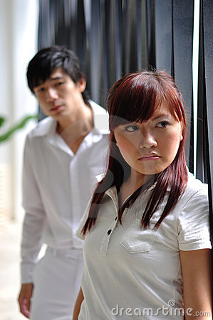 Free Young Asian Couple In Despair 2 Stock Photo - 14852470