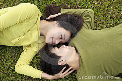 Young asian couple in love