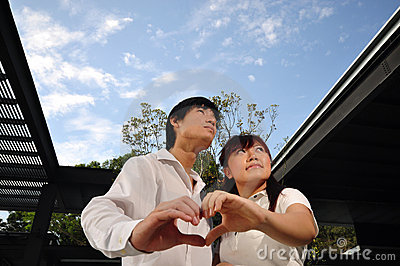 Young Asian Couple in Love (III)