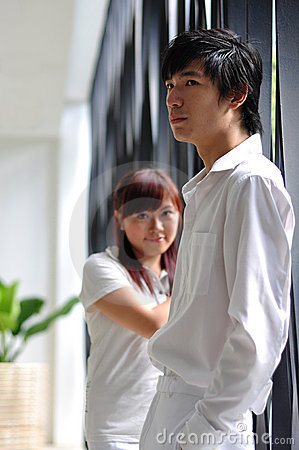 Free Young Asian Couple Sulking Royalty Free Stock Photography - 14853057