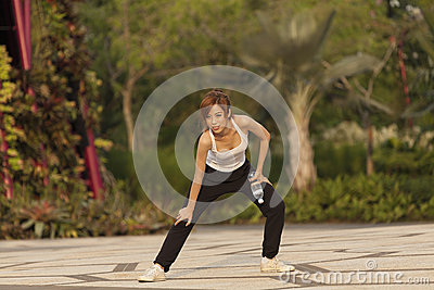 Young Asian Female Adult Healthy Lifestyle