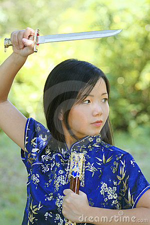 Young Asian Female with Sword