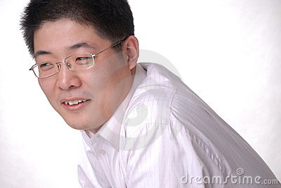 Young Asian man in glasses