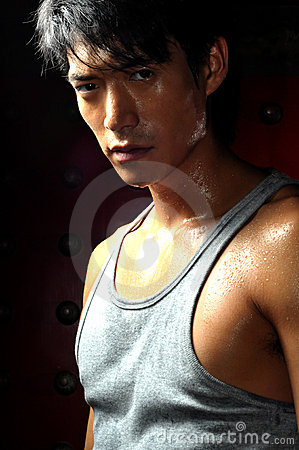 Free Young Asian Man Perspiring Royalty Free Stock Photos - 10162058