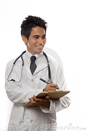 Young asian medical student