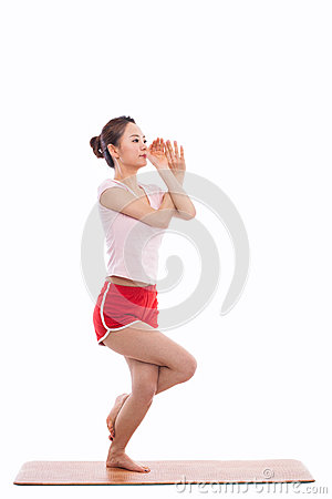Young Asian woman  exercise yoga